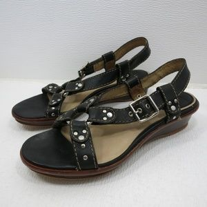 Frye Harness Sandals Chrome Buckles Casual Dress 9